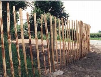 Kastanje hekwerk 90cm hoog - drie draads